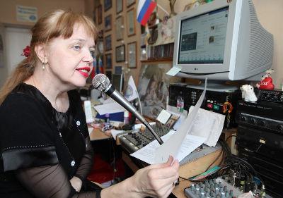 Елена Сироткина— краевед, владелица и ведущая единственной в Малой Вишере частной радиостанции