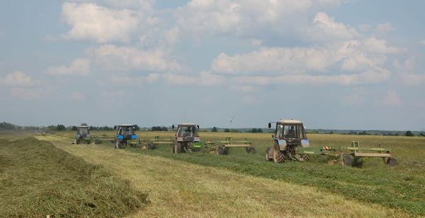 Механизированный отряд на полях «Астрилова»