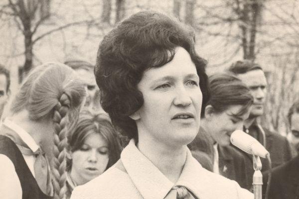 Людмила Ярош, секретарь обкома