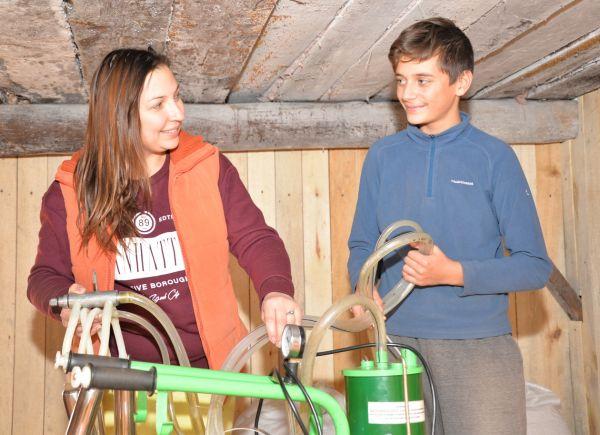 Жена фермера Людмила с сыном Алексеем нашли себе в деревне дело по душе