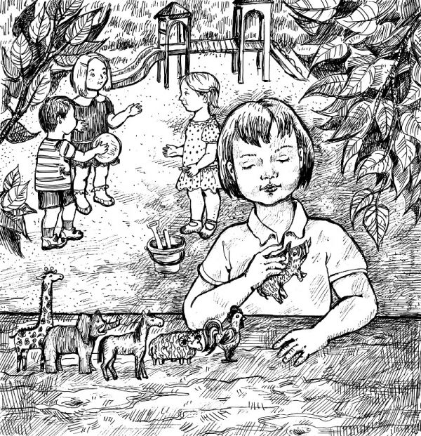 Буклет «Аутизм. Пособие для родителей» иллюстрирован рисунками Киры Ивановой