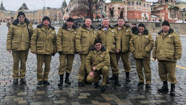 Новгородская делегация воинов-афганцев в Москве перед торжественным собранием в Кремле. 15 февраля 2019 года