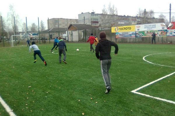 Футбол популярен у жителей Новгородского района