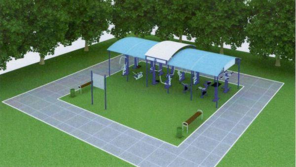 Спортивная площадка с тренажёрами украсит деревню