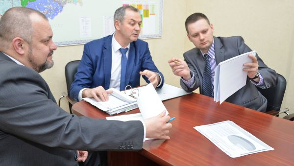 Евгений Пехтерев, Анатолий Кудрицкий и Андрей Корявкин обсудили вопросы дальнейшего сотрудничества