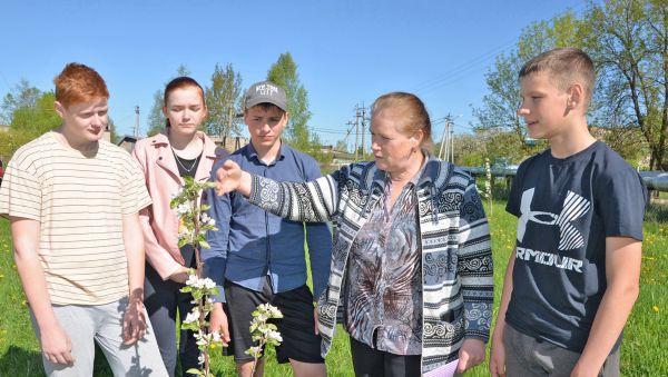 Практические занятия в агроклассе ведёт Алла Егорова