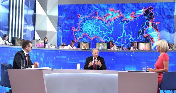 Всего на «Прямую линию с Владимиром Путиным» поступило почти два миллиона обращений