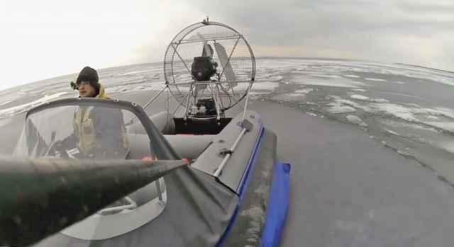 Катера Эдуарда Антонова катают с ветерком.
