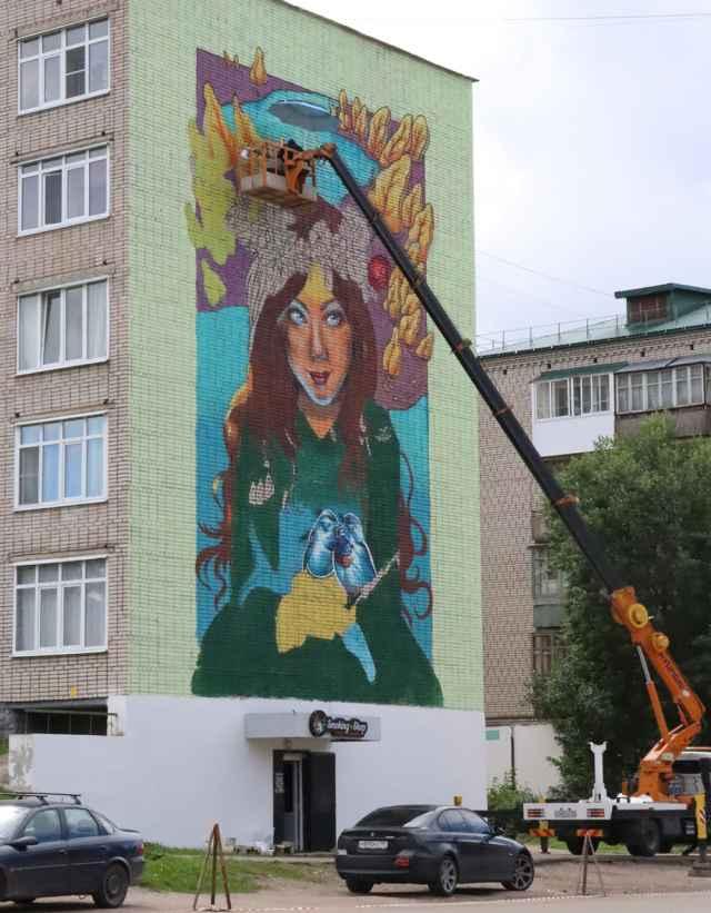 Краса Валдая с улицы Труда.