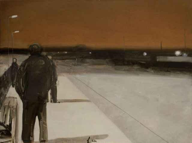 «Старая деревня» (2011 год). Эта и другие картины Владимира Шинкарёва экспонируются сейчас в НЦСИ.