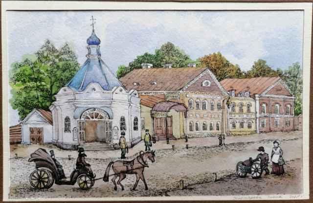 Перекрёсток Крестецкой и Ильинской (сейчас — Минеральная), где некогда стояла часовня Святого Пророка Ильи.
