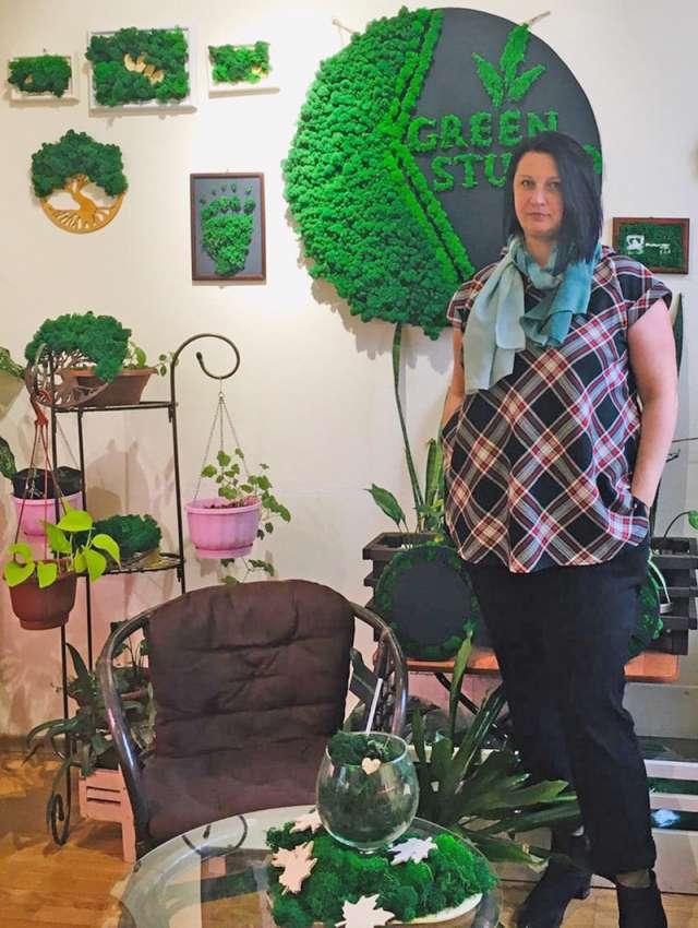 Изготовление панно из мха стало для Антонины Соколовой нишей в бизнесе.