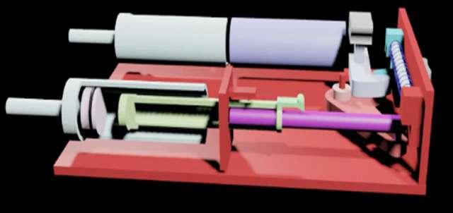 Ноу-хау Максима Чиканчи – создание устройства с дополнительной функцией введения гормона-антагониста инсулина. (Эскиз прибора)