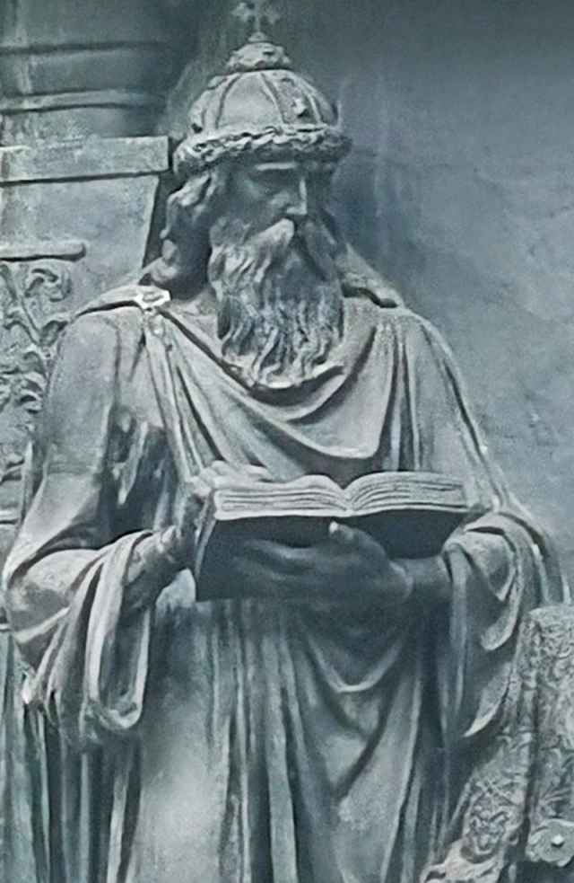 Одна из знаковых фигур памятника «Тысячелетие России» — Ярослав Мудрый.