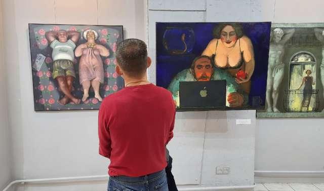 На выставке Анны Щёголевой.
