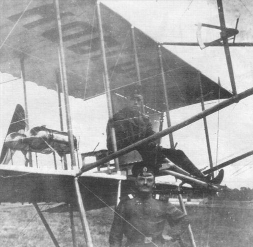 Леонид Вамелкин на аэроплане «Великий Новгород». Журнал «Огонёк», 1913 г.