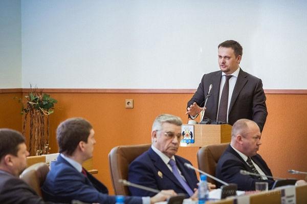 Впервые в истории города на отчёте мэра присутствовал глава региона — врио губернатора Андрей НИКИТИН