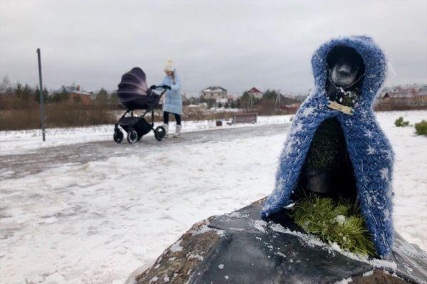 С наступлением холодов наряд японца стал значительно теплее