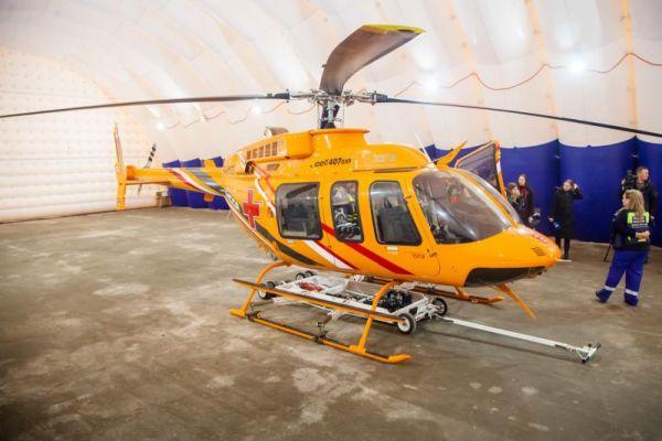 Сегодня, 8 мая, вертолет Национальной службы санитарной авиации доставил двух пациентов из районных больниц в Великий Новгород.