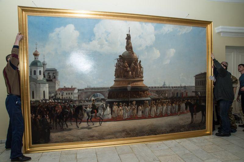 В 2019 году картина Богдана Виллевальде «Открытие памятника Тысячелетию России в Новгороде 8 сентября 1862 года» отмечает 155-летие.