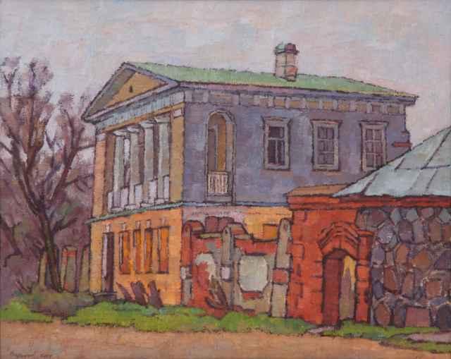 Александр Варенцов «Коростынь. Путевой дворец» (2004 год, холст, масло)