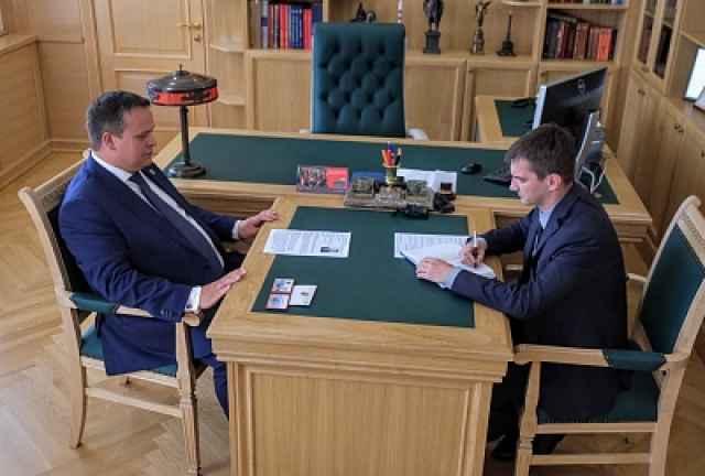 Андрей Никитин пожелал Андрею Майорову плодотворной работы и рекомендовал чаще общаться с жителями региона и с журналистами
