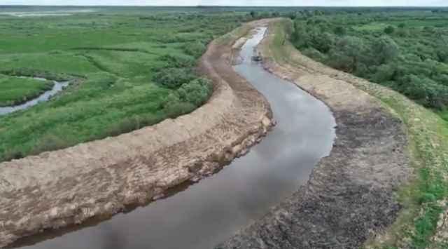 К расчистке и углублению русла Полометь приступили в 2014 году.