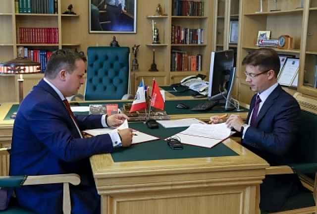 Андрей Никитин и Максим Протасов подписали «дорожную карту» ключевых этапов сотрудничества правительства региона и «Российской системы качества».