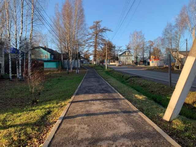 Пешеходная дорожка в Любытине отремонтирована по проекту ППМИ.