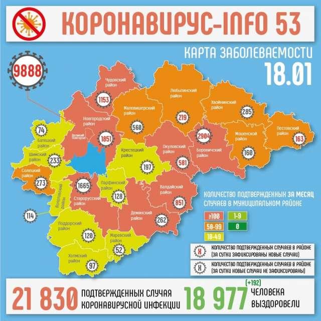 Общее число жителей области, переболевших коронавирусом, сейчас составляет 18 977 человек.