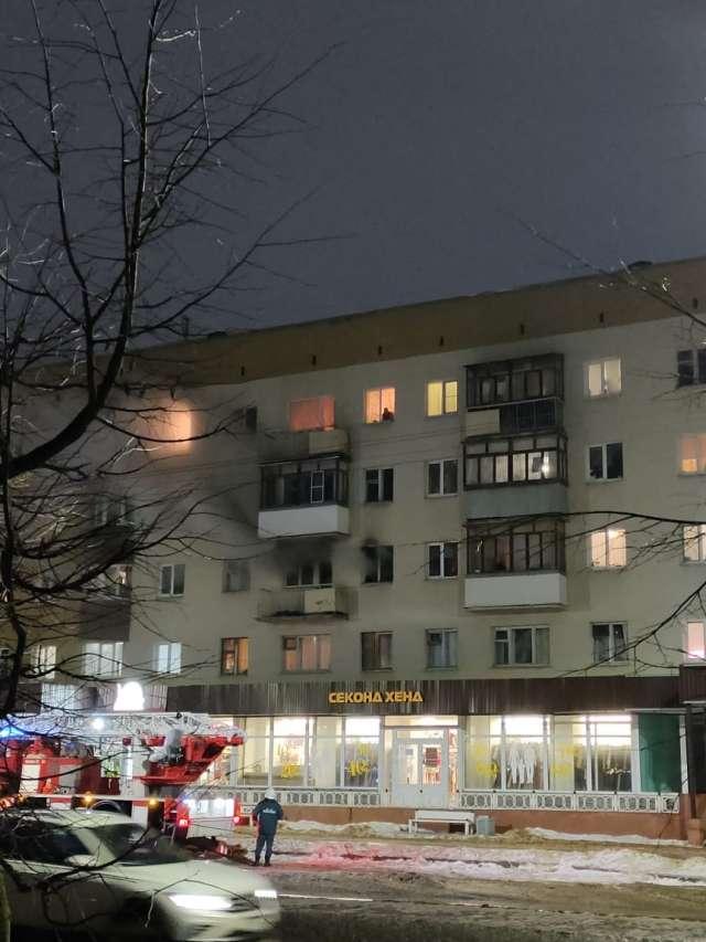 В квартире дома на улице Ломоносова в Великом Новгороде произошёл пожар.