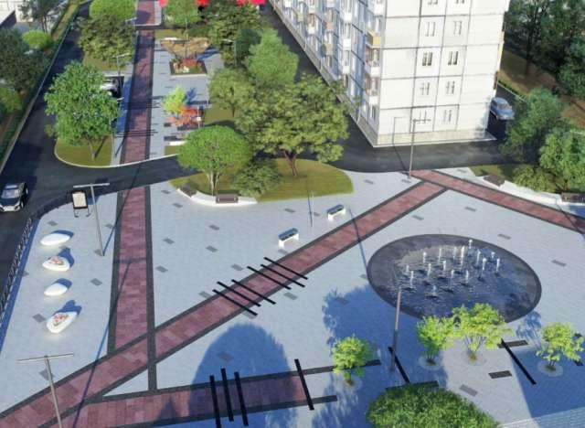 Эскизный проект благоустройства фонтанной площади в Чудове.