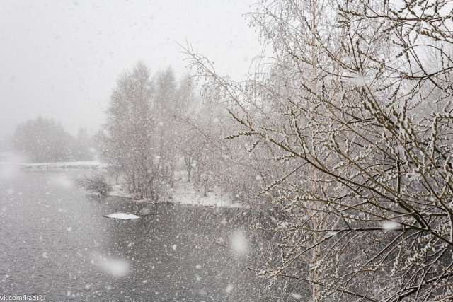 В отдельных районах области возможно налипание мокрого снега