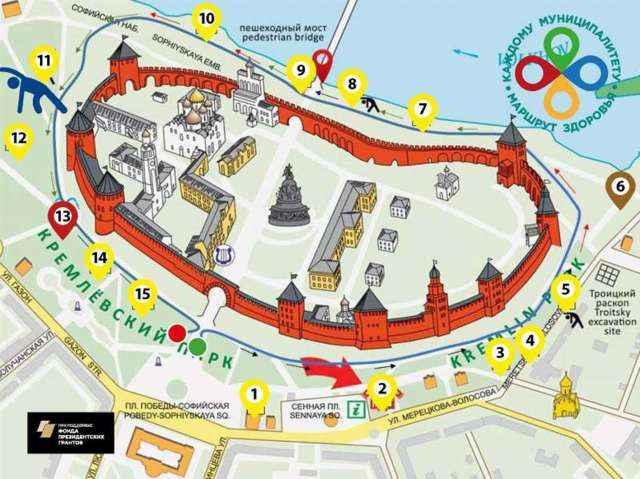 Теперь Великому Новгороду предстоит организоватьточкифизической активности и совершенствовать «Маршрут здоровья».