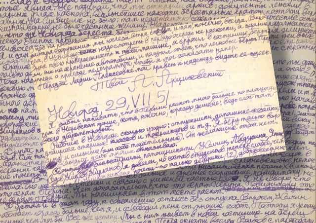 Письмо Артемий Арциховский написал в Новгороде 29 июля 1951 года — через три дня после находки первой берестяной грамоты.