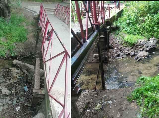 После жалобы жительницы Солецкого округа проведена уборка территории около моста через реку Крутец