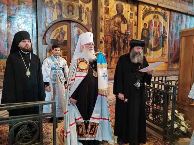 Египетская делегация побывала в Софийском соборе.