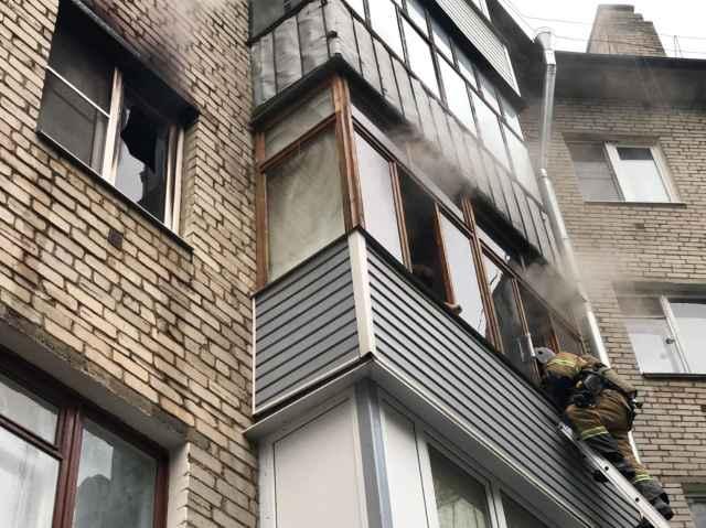 Ликвидация пожара была завершена в 6.39