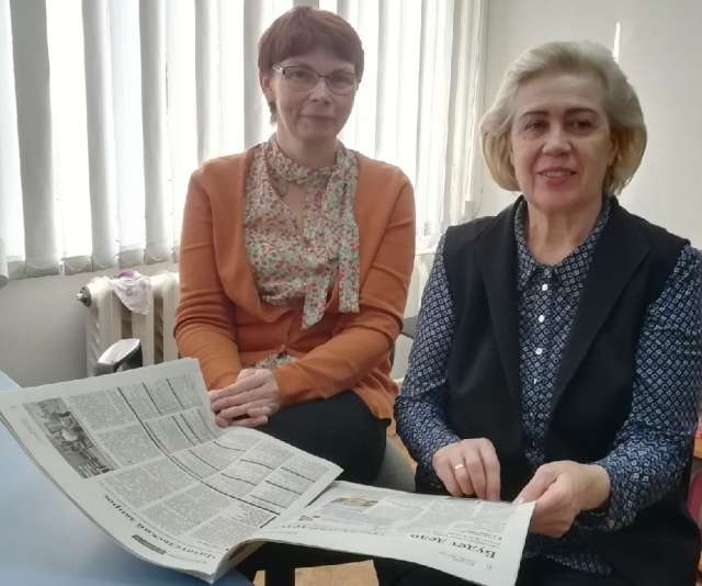 Беседа журналиста «НВ» и профессора НовГУ (справа)