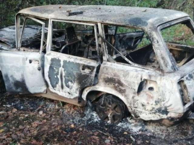 В Окуловке 19-летний юноша угнал и сжёг автомобиль «ВАЗ»